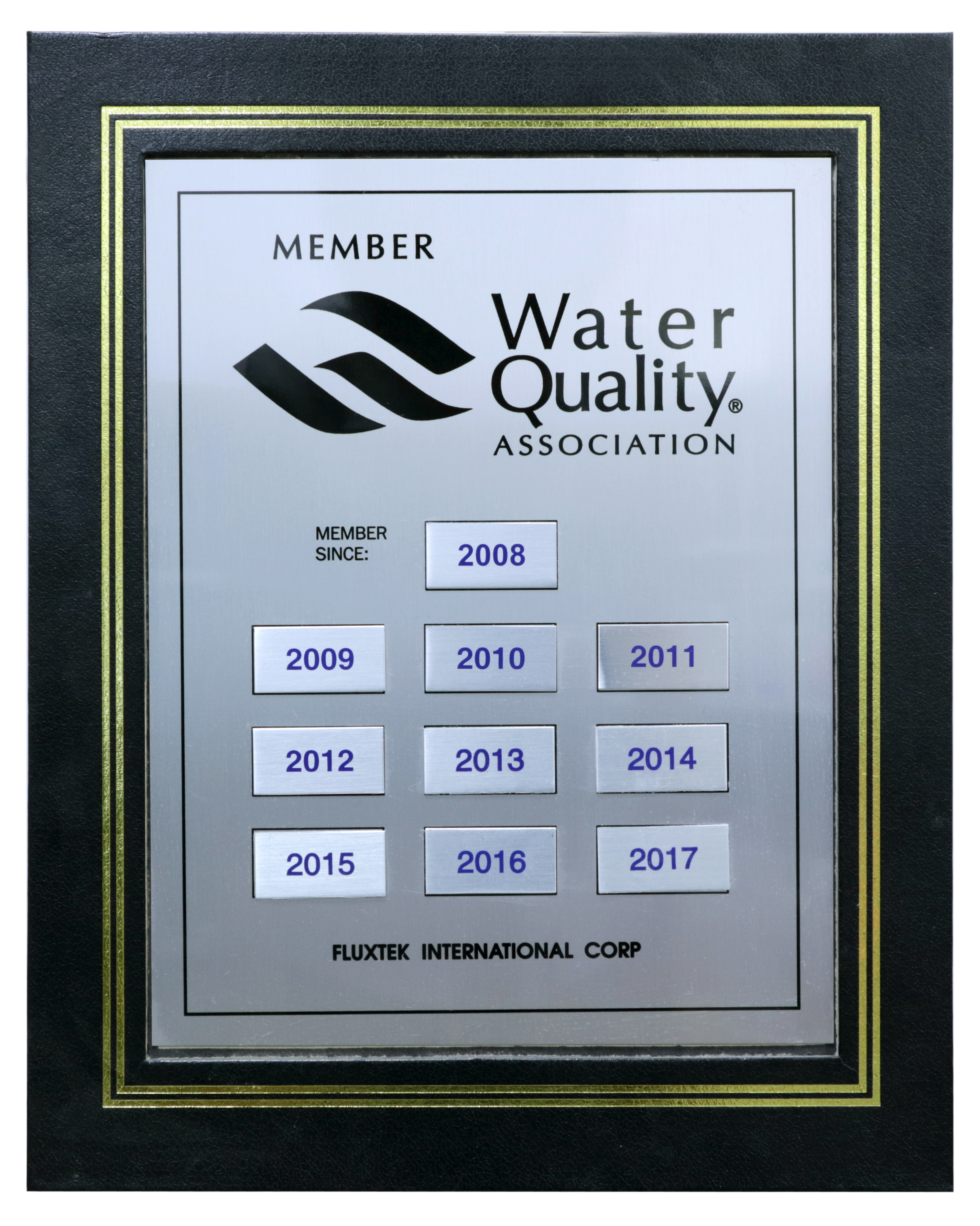 Water Quality Association 2008-2017