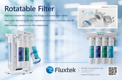 Fluxtek Rotatable RO Filter is on Water Conditioning and Purification(WCP) Magazine